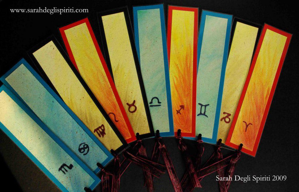 Segnalibri con segni zodiacali