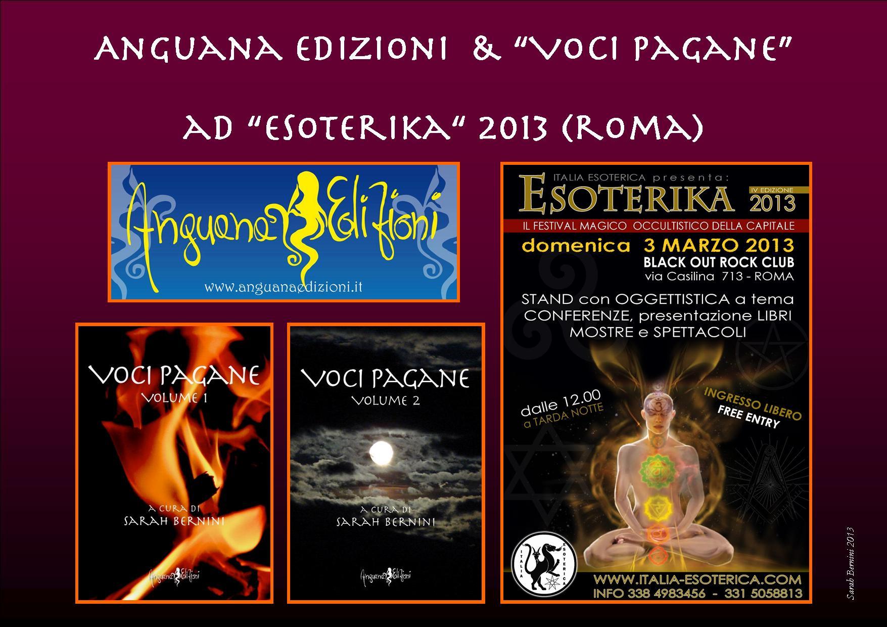 Anguana edizioni e Voci Pagane ad Esoterika 2013