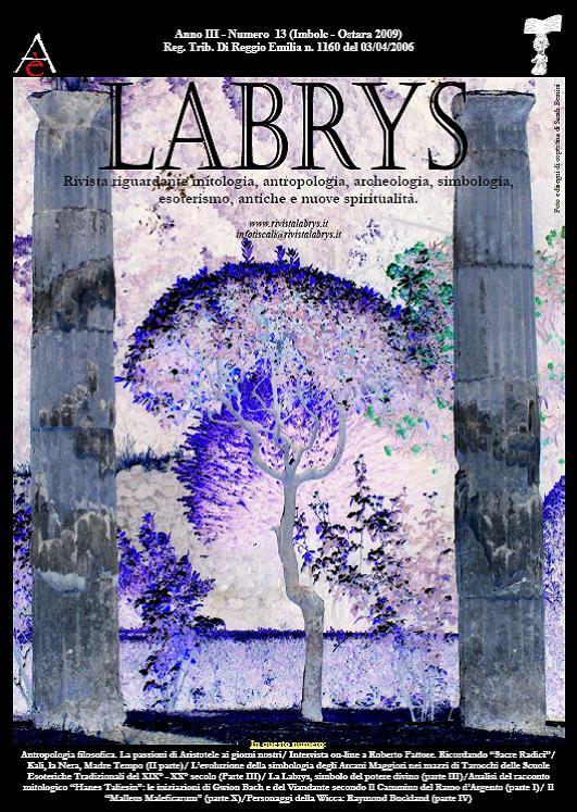 Copertina rivista Labrys 13
