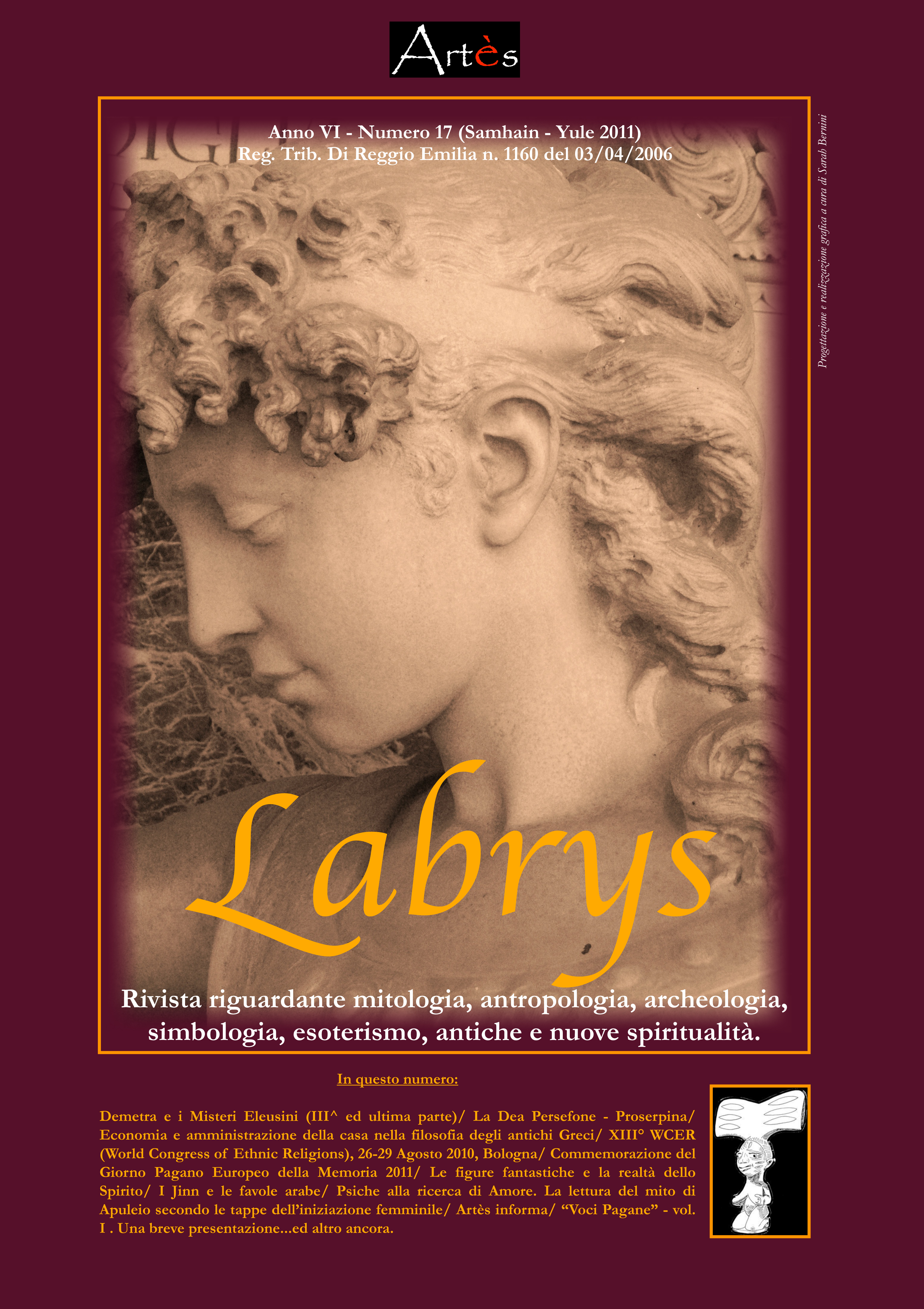 Copertina rivista Labrys 17