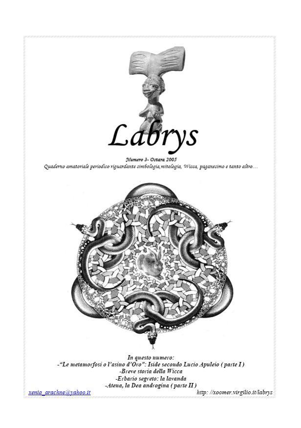 Quaderno amatoriale Labrys 3