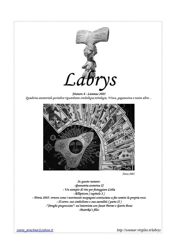 Quaderno amatoriale Labrys 6