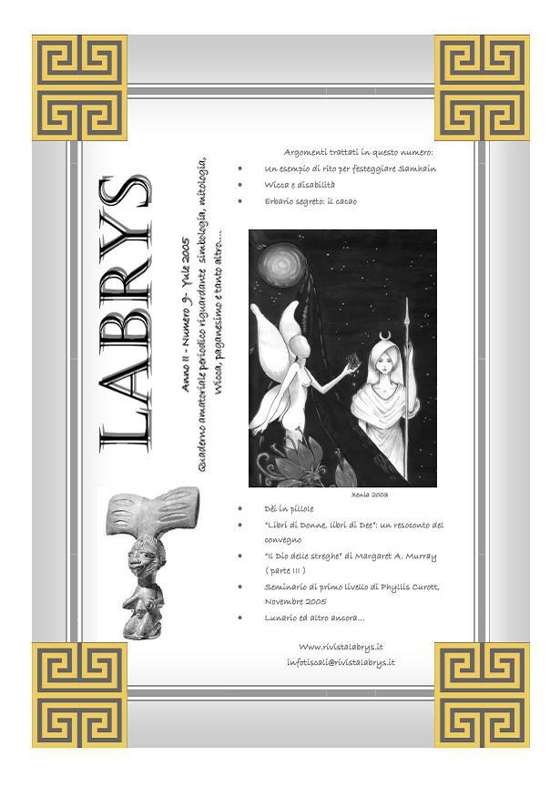 Quaderno amatoriale Labrys n. 9