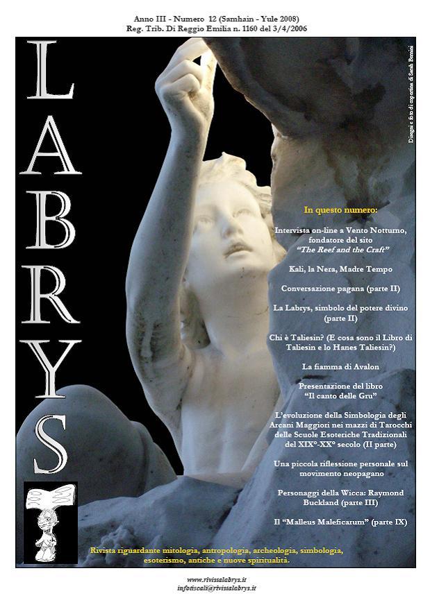 Copertina rivista Labrys 12