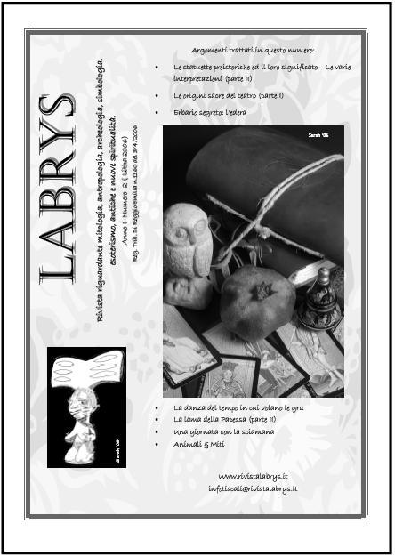 Copertina rivista Labrys n. 2