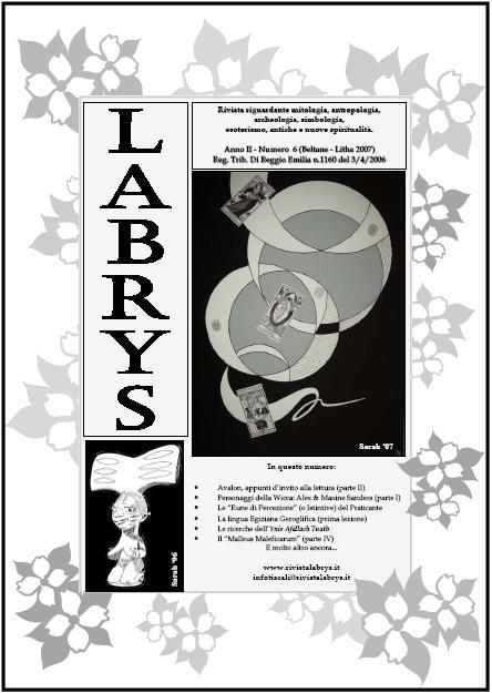 Copertina rivista Labrys 6