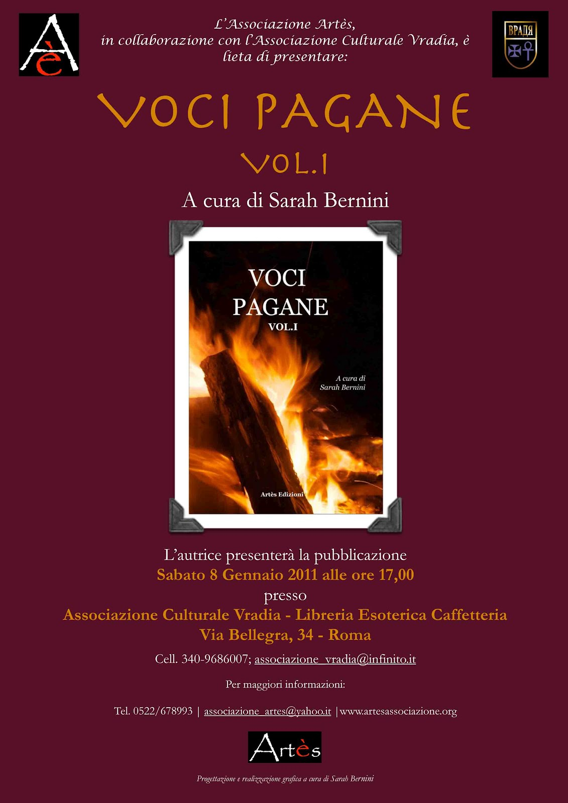 Locandina presentazione Voci Pagane I