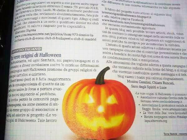 Articolo Le vere origini di Halloween