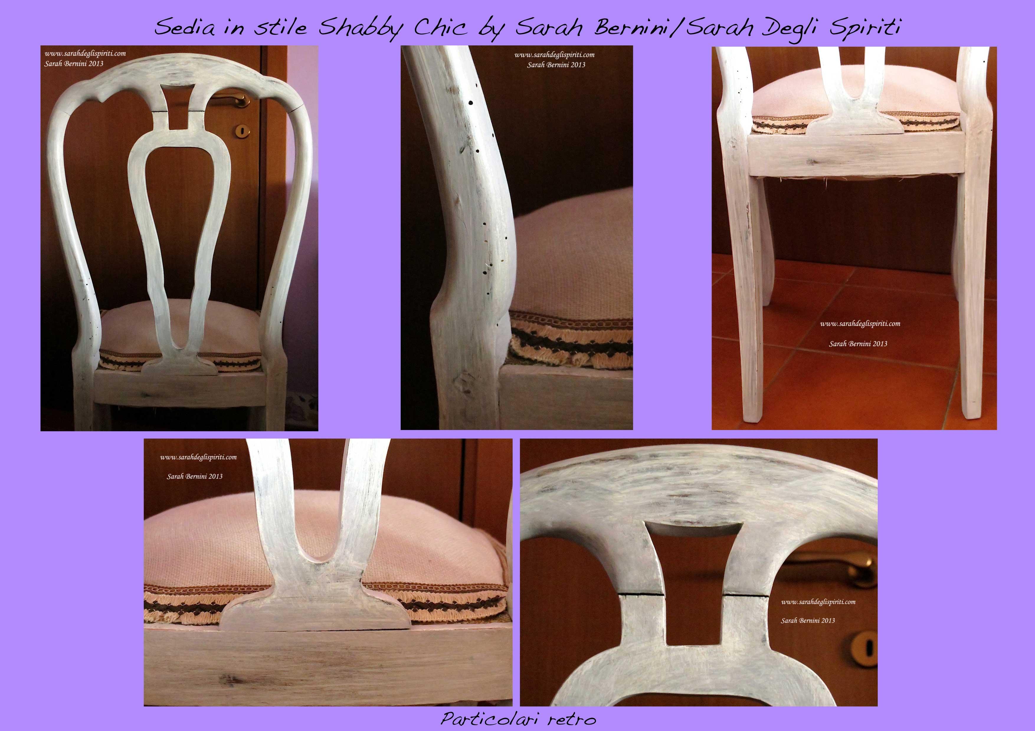 Particolari retro sedia Shabby chic by Sarah Degli Spiriti