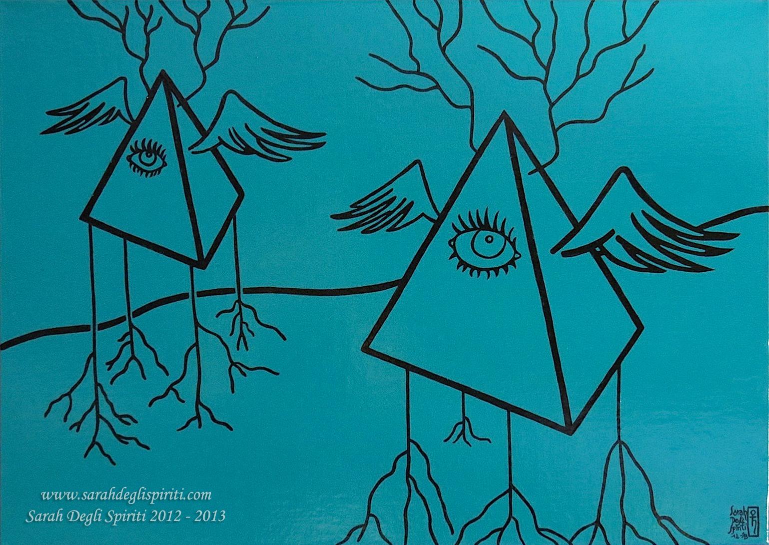 Le mie piramidi volanti mettono radici