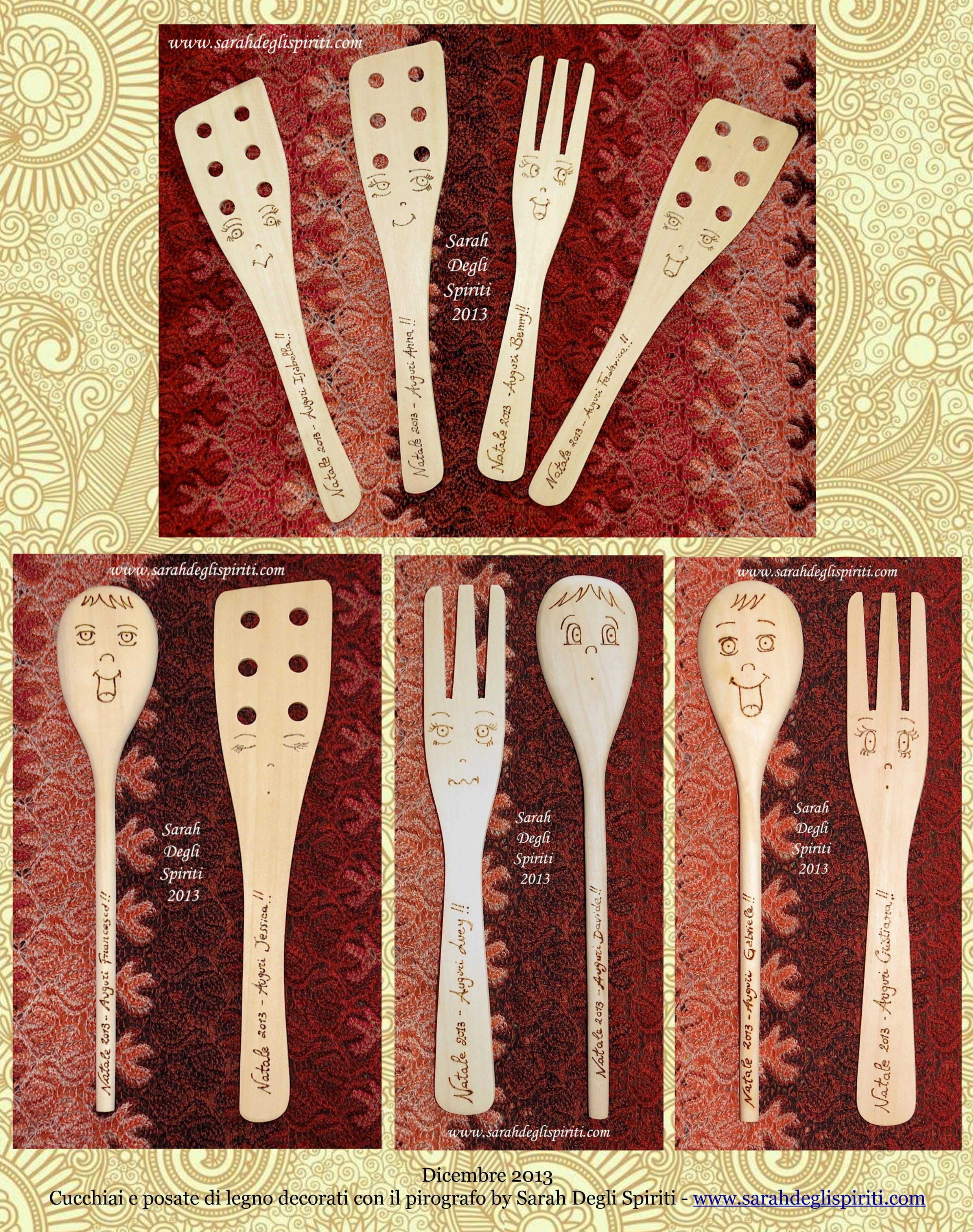 Cucchiai di legno pirografati - 1