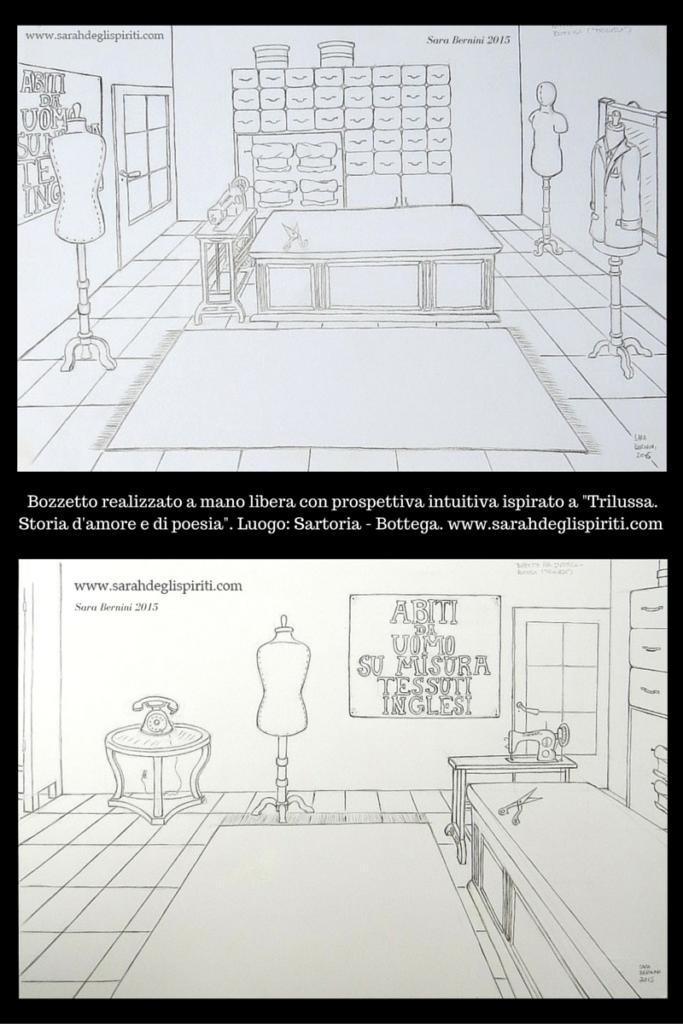 Bozzetto per scenografia cinemtografica by Sarah Bernini/Sarah Degli Spiriti.