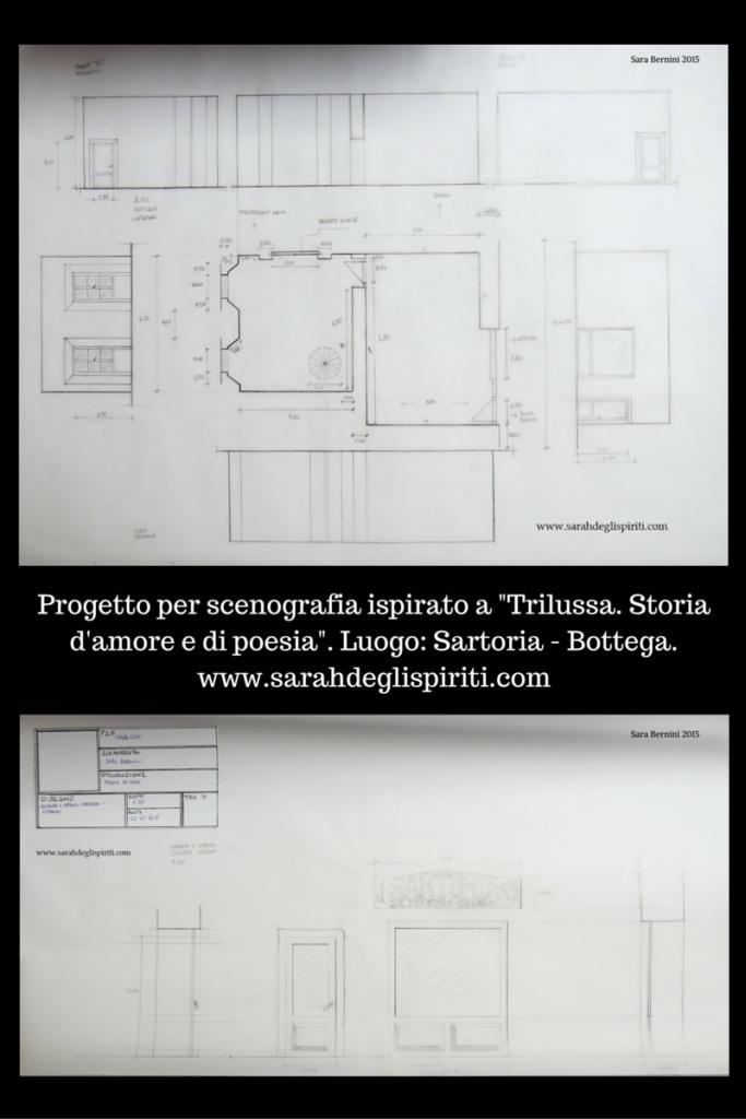 Progetto per scenografia cinematografica by Sarah Bernini/Sarah degli Spiriti.