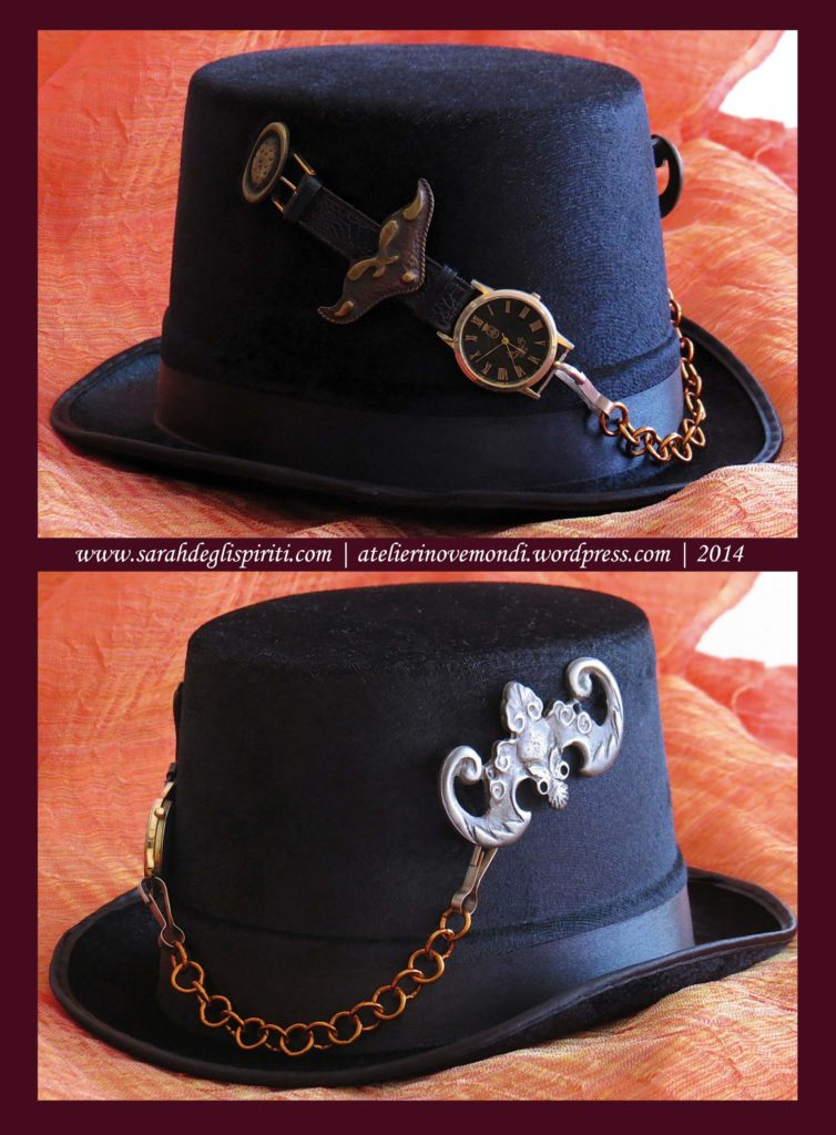 Cappello n. 2 decorato in stile Steampunk by Sarah Bernini/Sarah Degli Spiriti.