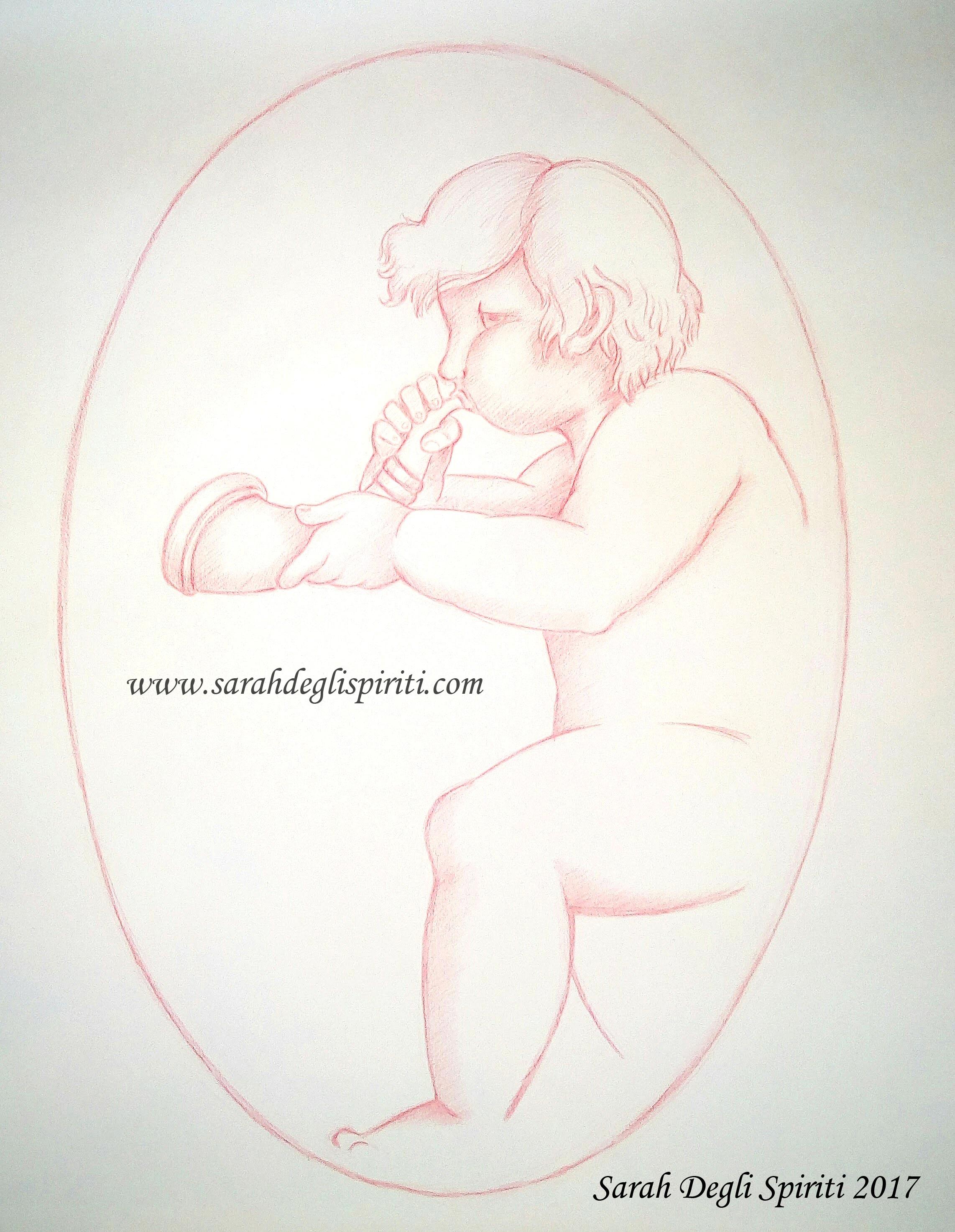 Disegno n.1 per L'ultima notte by Sarah Bernini