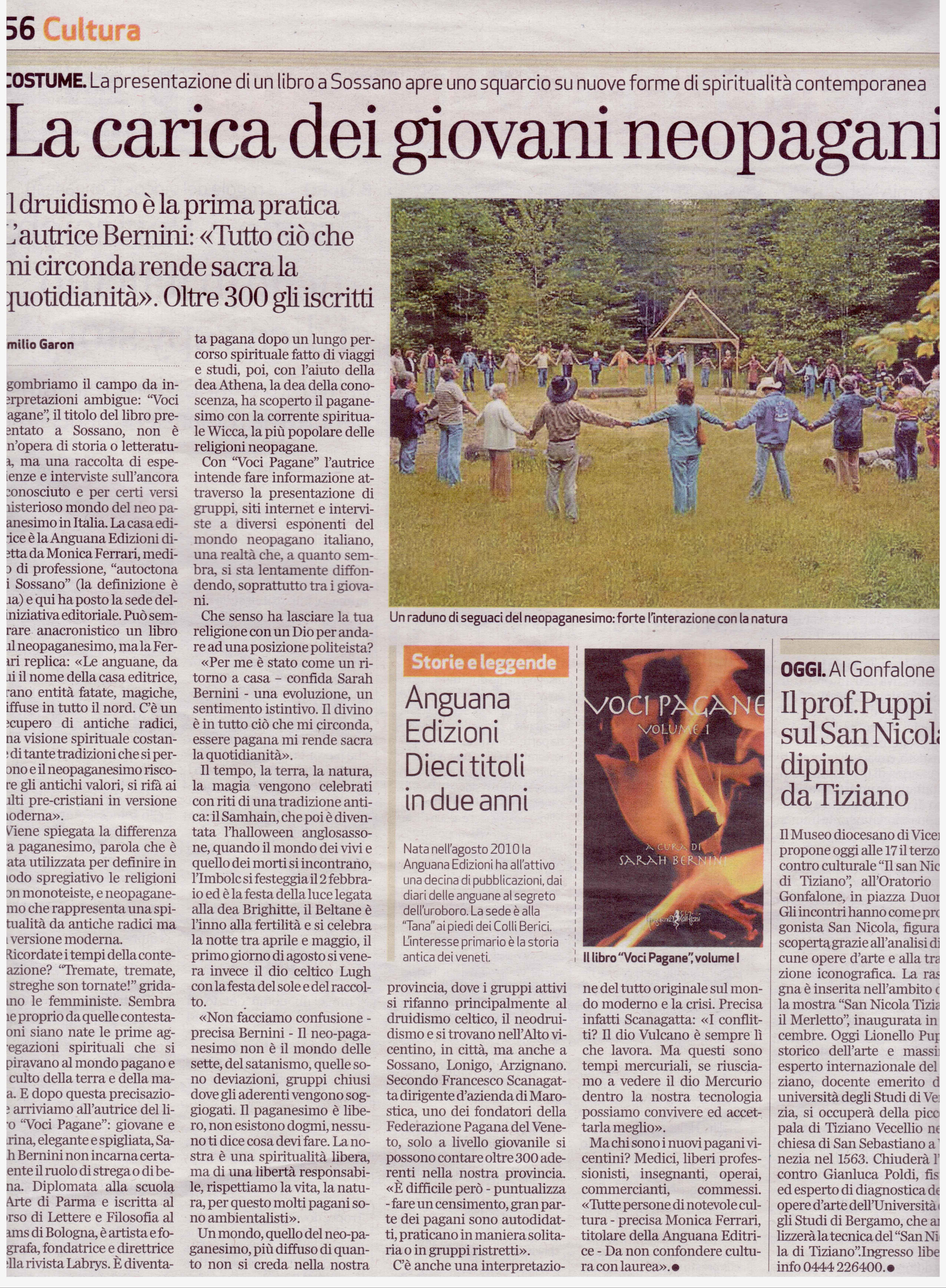 Articolo La carica dei giovani neopagani